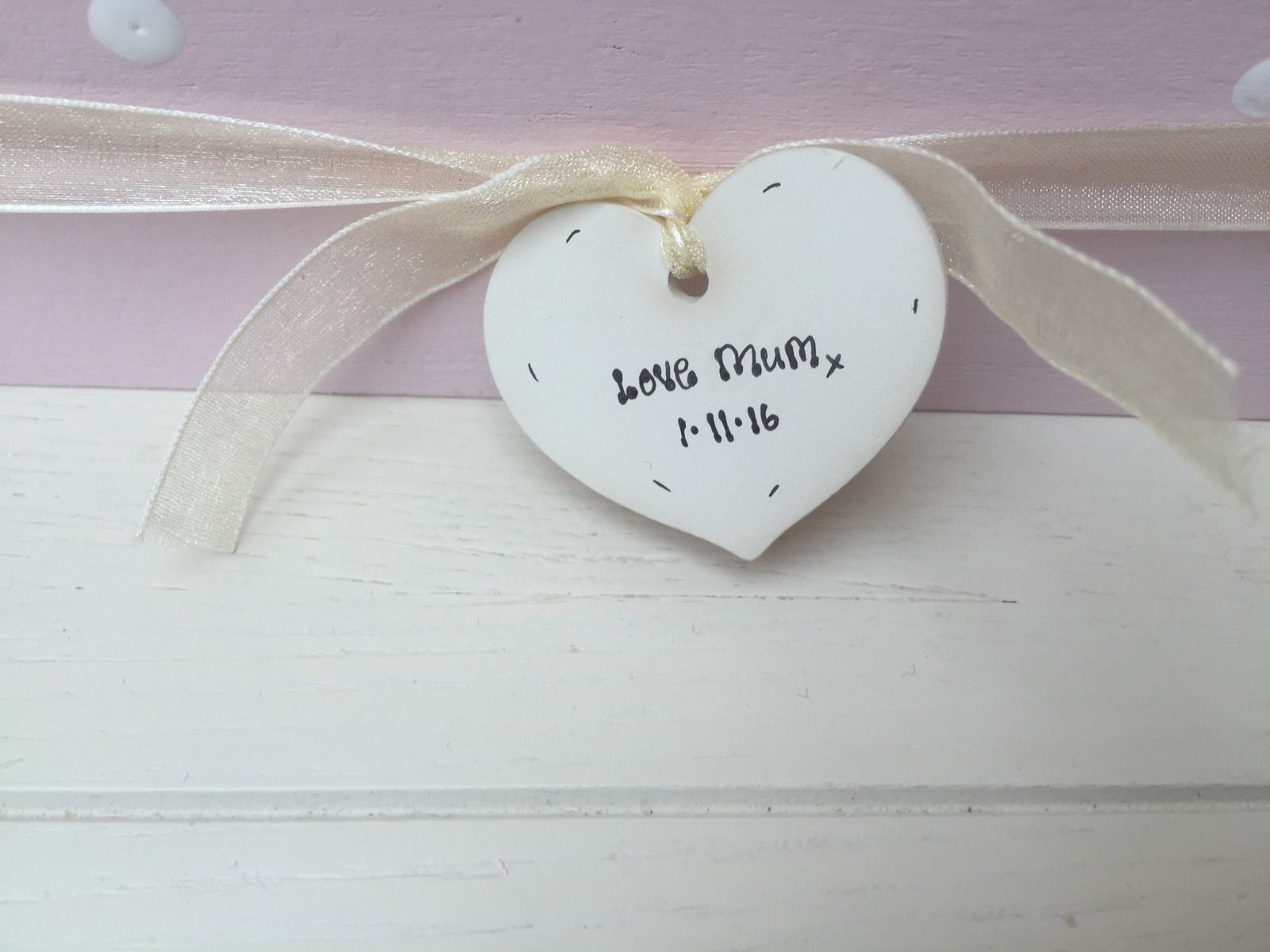 Shabby Personalised Chic Jewellery Box Gift For Daughter On Her Wedding Day